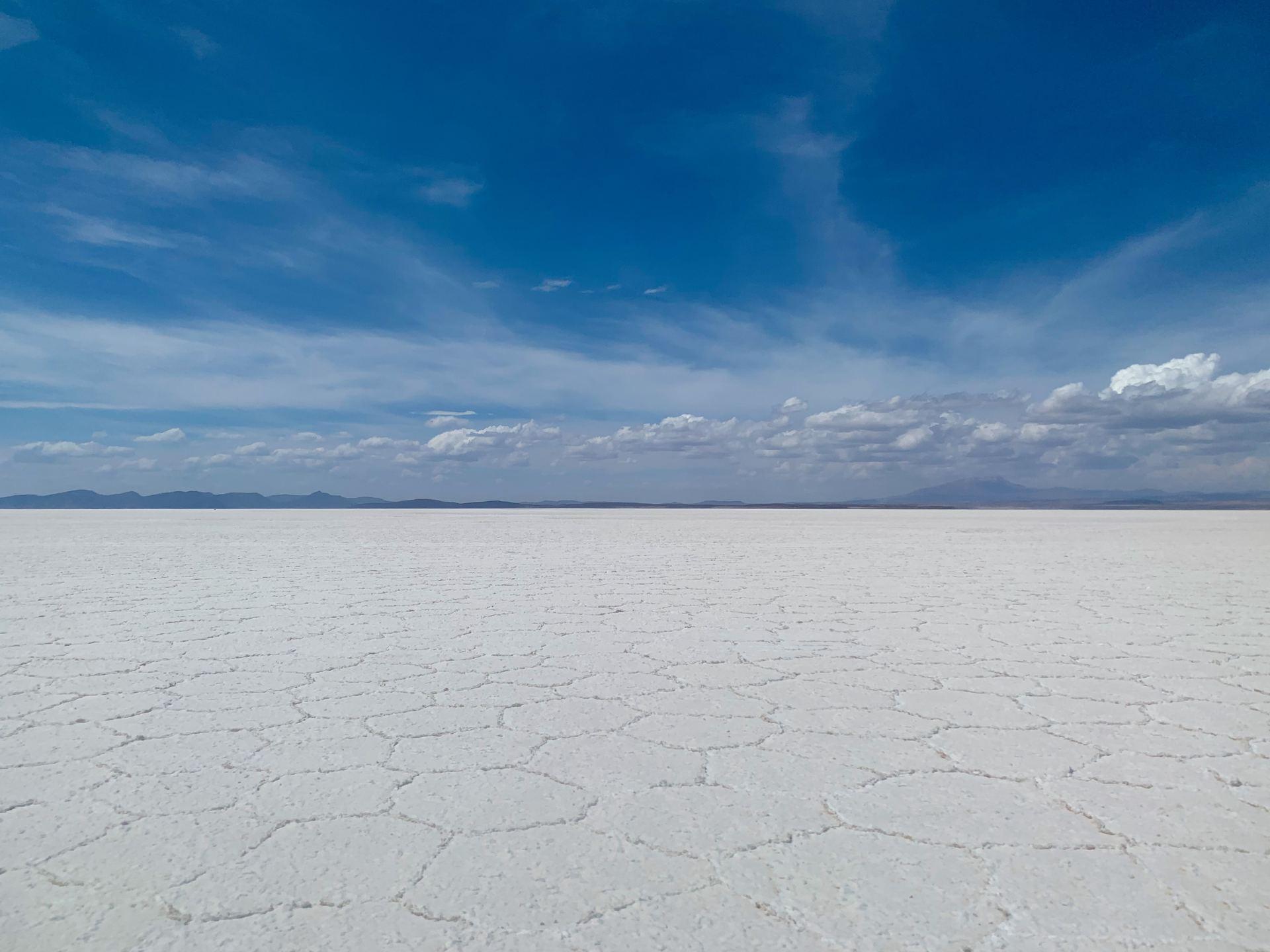 Salt flats in Botswana Desert