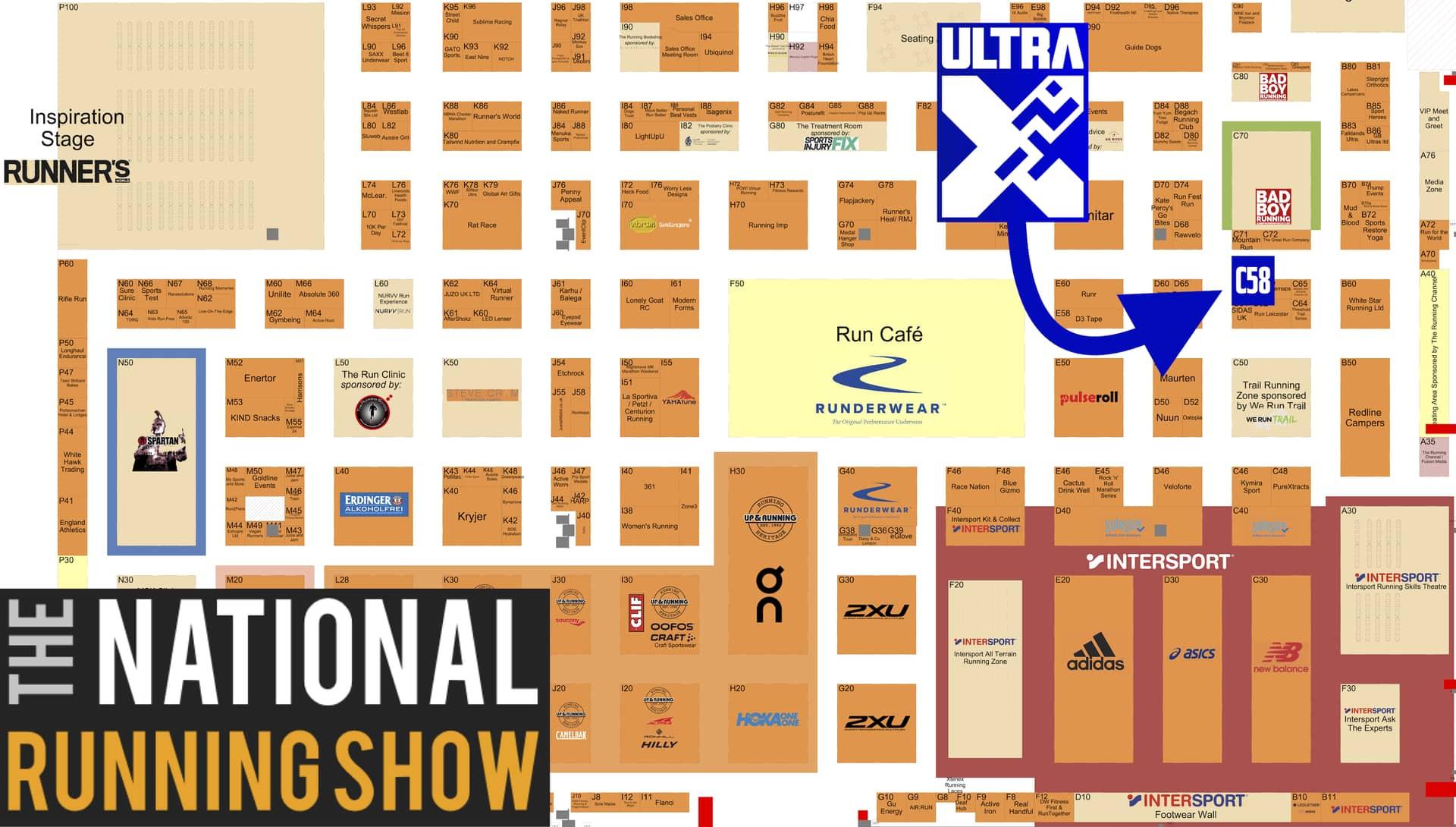 National Running Show Map