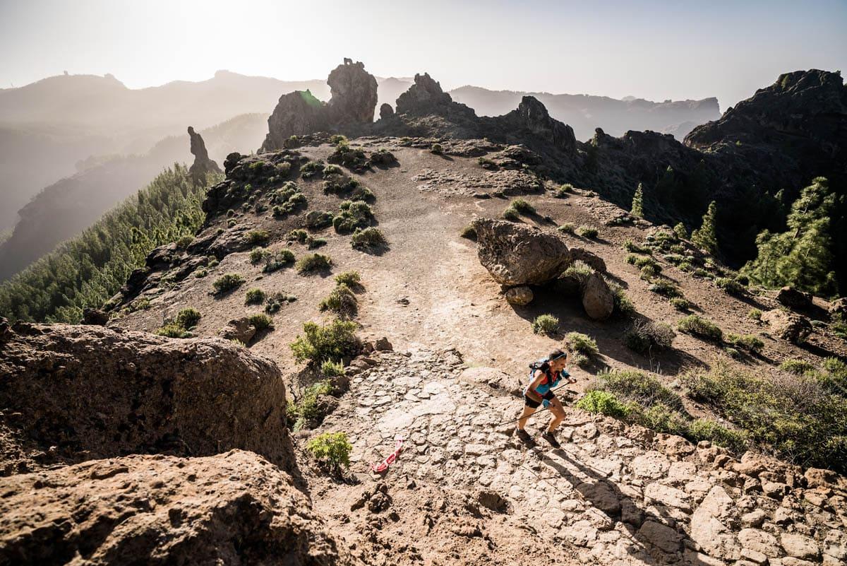 Transgrancanaria Ultra Trail World Tour Runner during Ultra marathon